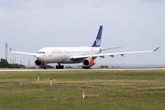 SAS A330 after maintenance at LTM Stock Images