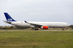 SAS A330 after maintenance at LTM Royalty Free Stock Photography