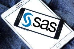 SAS programvarulogo Royaltyfria Bilder