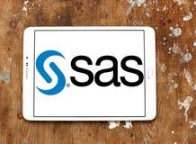 SAS programvarulogo Royaltyfri Fotografi