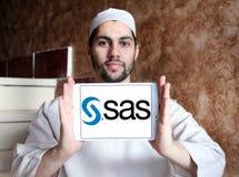 SAS programvarulogo Arkivfoto