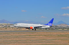 SAS Scandinavian Airlines Passenger Plane Flight Stock Photos