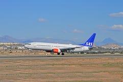 SAS Scandinavian Airlines Passenger Plane Flight Stock Photos