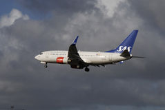 SAS SCANDINAVIAN AIRLINES FLYING AGAIN Stock Photos