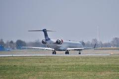 SAS Scandinavian plane Stock Photo