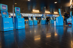 SAS self service check in at Arlanda Airport, Stockholm, Sweden Royalty Free Stock Photo