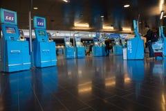 SAS self service check in at Arlanda Airport, Stockholm, Sweden Royalty Free Stock Photo