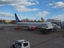 SAS skandinaviska flygbolag Boeing 737-800 Royaltyfri Fotografi