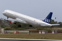 SAS A321 taking off Stock Images