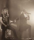 Sasa ciężkiego metalu zespół żywy w koncerta 2016 Bologna Obraz Stock