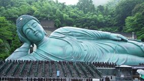 Sasaguri, Fukuoka Prefecture, Japan Bronze statue of a reclining Buddha, said to be the largest bronze statue in