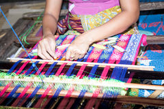 Sasak tribe lady weaving, Lombok Stock Photography