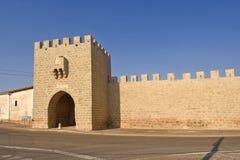 Sasamon,布尔戈斯省,西班牙村庄的入口  免版税库存图片
