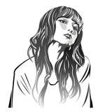 Sasazaki del mami del peinado de la muchacha ilustración del vector
