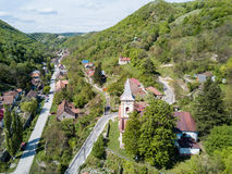 Sasca Montana village near Cheile Nerei National Park Romania Royalty Free Stock Photos