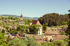 Saschiz fortified church Stock Photography
