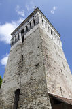 Saschiz fortified church Stock Photo
