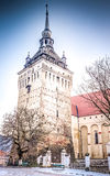 The Saschiz fortified church Stock Photos