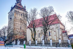 The Saschiz fortified church Royalty Free Stock Photo