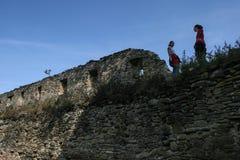 Saschiz fortress stock photo