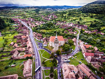 Saschiz saxon village and fortified Church in middle Transylvani Stock Photography