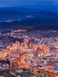 Sasebo downtown skyline at night, Nagasaki, Japan. Stock Photography