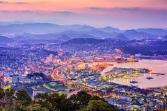 Sasebo Japan horisont arkivfoto