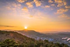 Sasebo, Japan Sunrise Royalty Free Stock Images