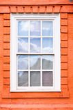 Sash window. Traditional wooden sash window in a historic building Stock Photos