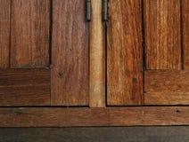 Sash window. S made of dark wood Royalty Free Stock Image