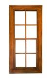 Sash wooden window isolated. A single-hung sash window isolated on white background Royalty Free Stock Photos