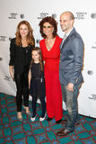 Sasha Alexander, Lucia Alexander,Sophia Loren, Edoardo Ponti. NEW YORK-APR 21: (L-R) Actress Sasha Alexander, daughter Lucia, Sophia Loren and son Edoardo Ponti Royalty Free Stock Images
