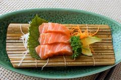 Sashim di color salmone Fotografia Stock Libera da Diritti