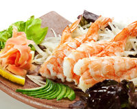 sashimi γαρίδες Στοκ Εικόνα