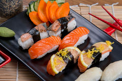 sashimi ρόλων Στοκ εικόνες με δικαίωμα ελεύθερης χρήσης