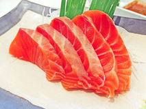 Sashimi σολομών Στοκ Εικόνες