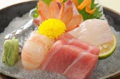 Sashimi. Japanese sashimi on a white dish royalty free stock image