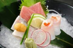 Sashimi. Japanese sashimi on a white dish stock photo