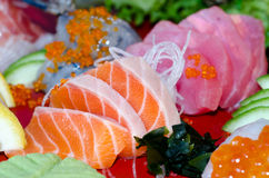 Sashimi. A dish of assorted sashimi - Japanese food Stock Image