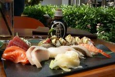 Sashimi. A delicious plate of Sashimi stock photo