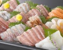 Sashimi. Japanese raw fish cuisine royalty free stock images