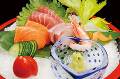 Sashimi. Japanese sashimi on a white dish Stock Image