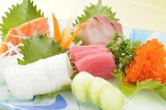 Sashimi. Japanese sashimi on a white dish Royalty Free Stock Images