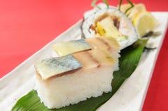 Sashimi. Japanese sashimi on a white dish royalty free stock photos