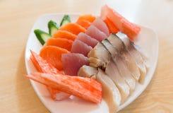 Sashimi, alimento japonês Fotos de Stock