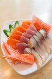 Sashimi, alimento japonês Fotografia de Stock Royalty Free