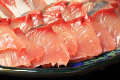 Sashimi of Amberjack Stock Photos