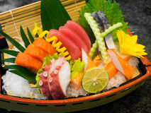 Sashimi on the boat Stock Image