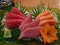 Sashimi com Daikon e Imagem de Stock Royalty Free