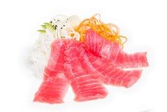 Sashimi con il salmone fotografia stock
